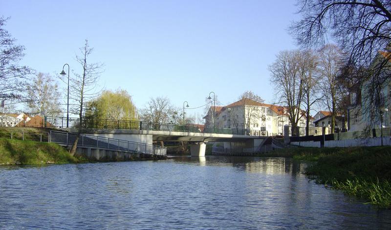 Brücke über die Uecker im Zuge der L 32 in Torgelow