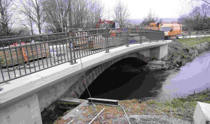 Brücke über die Hamel im Zuge der K 3 zwischen Klein und Groß Hilligsfeld